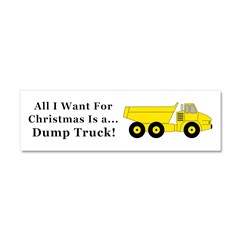 Christmas Dump Truck Car Magnet 10 x 3