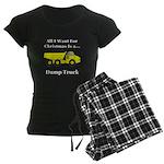 Christmas Dump Truck Women's Dark Pajamas