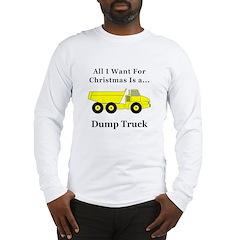 Christmas Dump Truck Long Sleeve T-Shirt