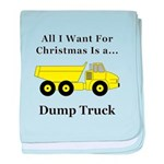 Christmas Dump Truck baby blanket