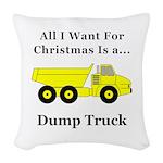 Christmas Dump Truck Woven Throw Pillow