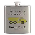 Christmas Dump Truck Flask