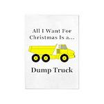 Christmas Dump Truck 5'x7'Area Rug