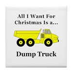 Christmas Dump Truck Tile Coaster