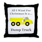 Christmas Dump Truck Throw Pillow