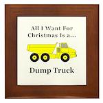 Christmas Dump Truck Framed Tile