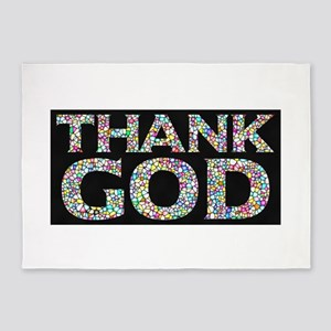 Thank God Blessed Tshirt 5'x7'Area Rug
