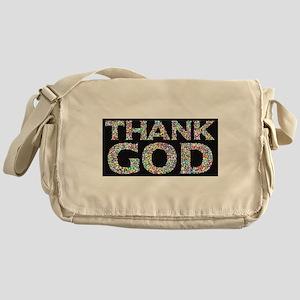 Thank God Blessed Tshirt Messenger Bag