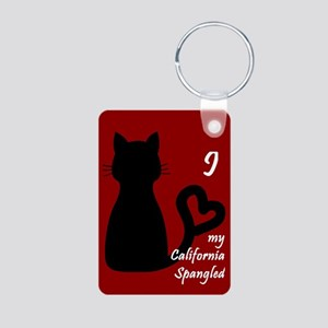 California Spangled Cat Heart Keychain Keychains