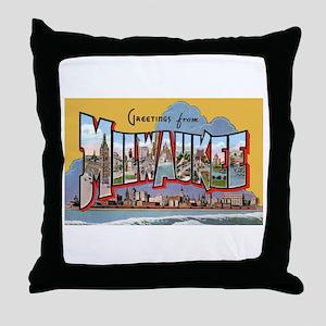 Milwaukee Wisconsin Greetings Throw Pillow