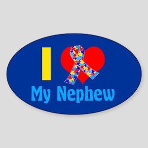 Autism Nephew Sticker (Oval)