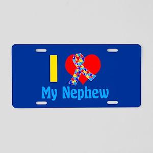 Autism Nephew Aluminum License Plate