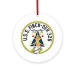 USS Finch (DER 328) Ornament (Round)