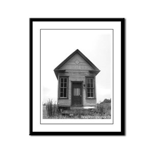 MP Library Framed Panel Print