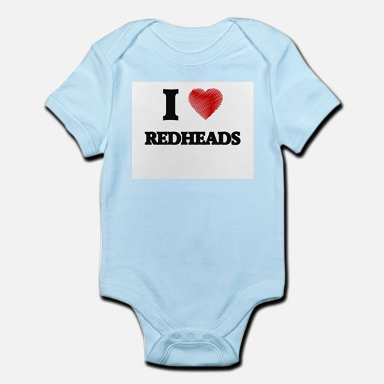 I Love Redheads Body Suit