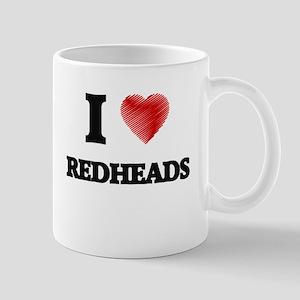 I Love Redheads Mugs