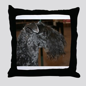 kerry blue terrier Throw Pillow