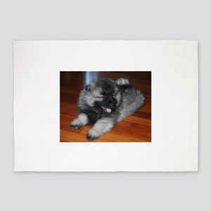 keeshond puppy 5'x7'Area Rug