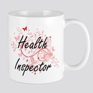 Health Inspector Artistic Job Design with But Mugs