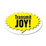 Transmit Joy Big 20x12 Oval Wall Decal