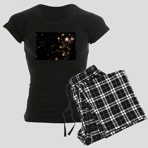 black gold stars Women's Dark Pajamas