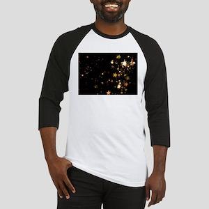 black gold stars Baseball Jersey