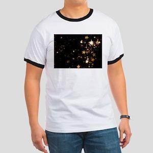black gold stars T-Shirt