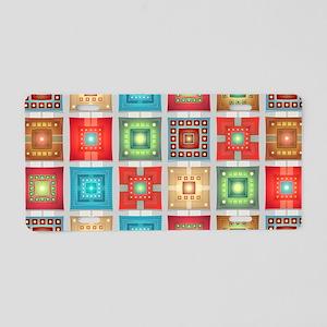 Colorful Tiles Pattern Aluminum License Plate