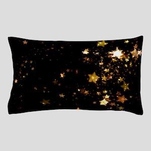 black gold stars Pillow Case