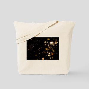 black gold stars Tote Bag