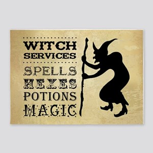 WITCH SERVICES 5'x7'Area Rug