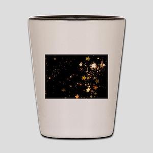 black gold stars Shot Glass
