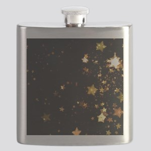 black gold stars Flask