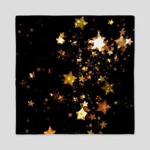 black gold stars Queen Duvet