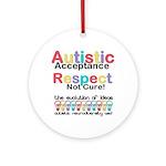 Autistic Acceptance Round Ornament