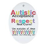 Autistic Acceptance Oval Ornament