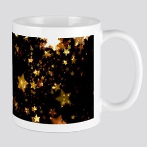 black gold stars Mugs