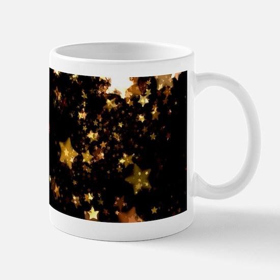 black gold stars Mugs