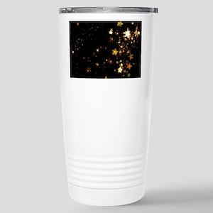 black gold stars Stainless Steel Travel Mug