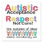 Autistic Acceptance Square Car Magnet 3