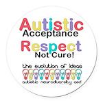 Autistic Acceptance Round Car Magnet
