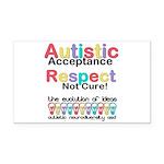 Autistic Acceptance Rectangle Car Magnet