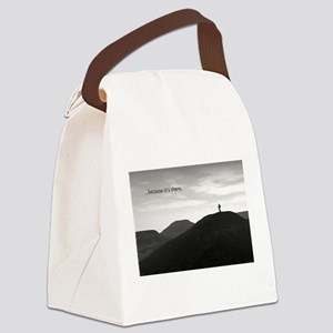 Because It's There Canvas Lunch Bag