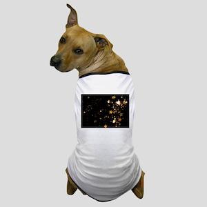 black gold stars Dog T-Shirt