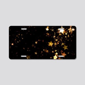black gold stars Aluminum License Plate