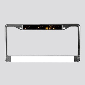 black gold stars License Plate Frame