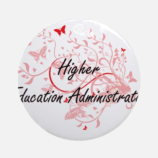 Higher Education Administrator Arti Round Ornament