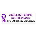 Abuse is a crime Bumper Sticker
