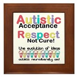 Autistic Acceptance Framed Tile