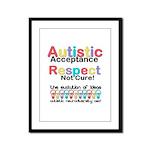 Autistic Acceptance Framed Panel Print